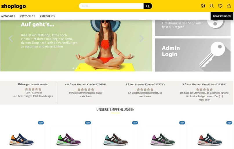 Shopvote Bewertungen im Gambio anzeigen, auch für die Cloud