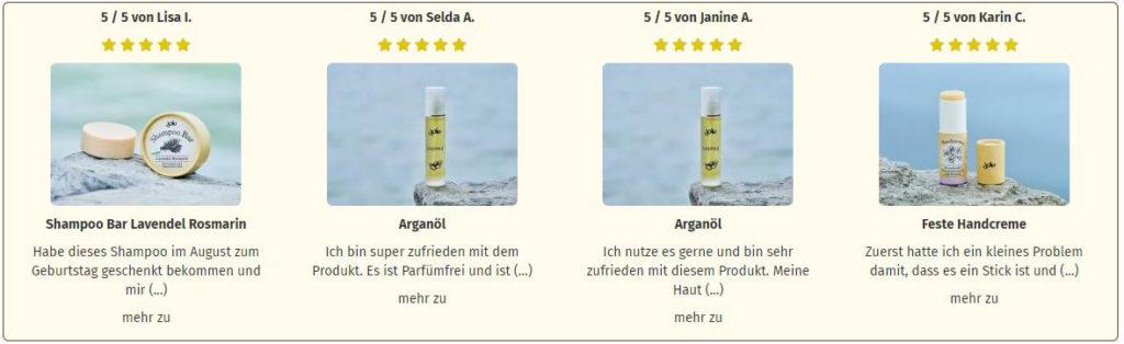 Produktbewertungen von Jolu Naturkosmetik